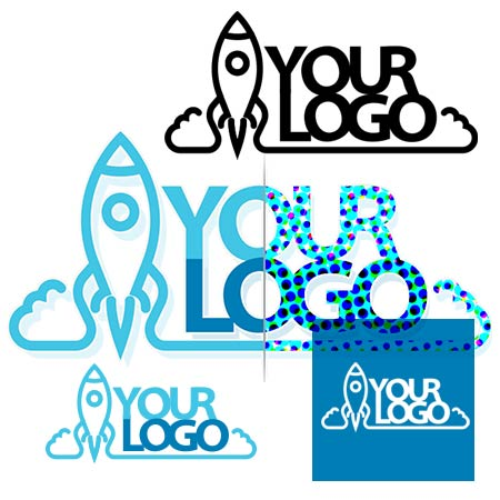 custom logo design vector and raster