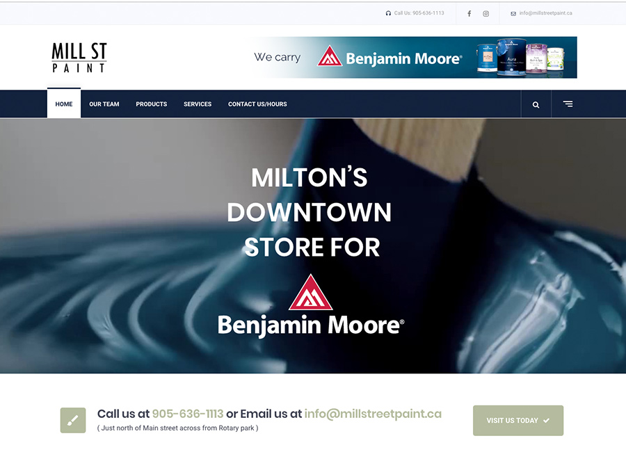 Mill street Website Design